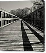 Walking The Lines Canvas Print