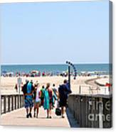Walking To The Beach Canvas Print