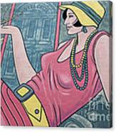Wall Art Flapper Canvas Print