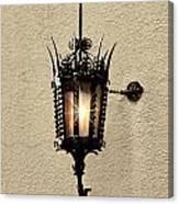 Wall Lamp Umber Sepia Canvas Print