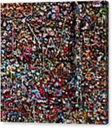 Wall Of Gum Canvas Print