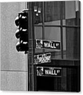 Wall Street And Broadway Canvas Print
