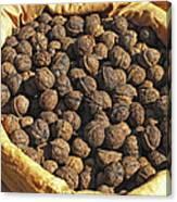 Walnuts In A Basket Canvas Print