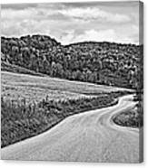 Wandering In West Virginia Monochrome Canvas Print