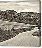 Wandering In West Virginia Sepia Canvas Print