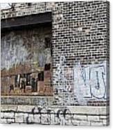 Warehouse Grafitti 2 Canvas Print
