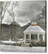 Warm Gazebo On A Cold Day Canvas Print
