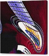 Warped Music Canvas Print