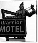 Warrior Motel Canvas Print