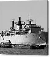 Warship Hms Bulwark Canvas Print