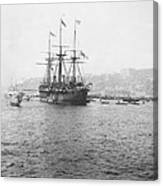 Warship Kaiser On Which Kaiser Wilhelm II Of Germany Came To Istanbul Canvas Print