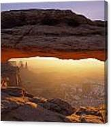 Washer Woman Arch Seen Through Mesa Canvas Print