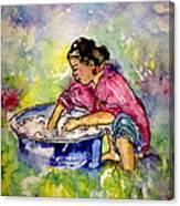 Washerwoman Beauty Canvas Print
