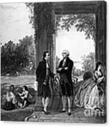 Washington And Lafayette, Mount Vernon Canvas Print