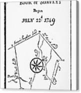 Washington: Book Of Surveys Canvas Print