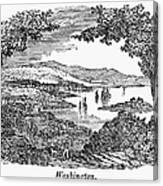 Washington, D.c., 1840 Canvas Print