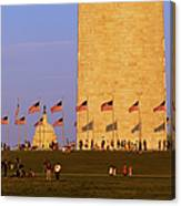 Washington Dc Sunset Canvas Print