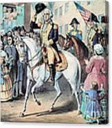 Washington Enters New York City After Canvas Print