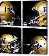 Washington Huskies Football Helmets  Canvas Print