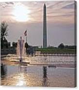 Washington Monument From The World War II Memorial Canvas Print