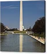 Washington Monument In Reflecting Pool Canvas Print
