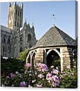 Washington National Cathedral And Stone Canvas Print