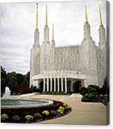 Washington Temple Canvas Print