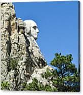 Washinton On Mt Rushmore Canvas Print