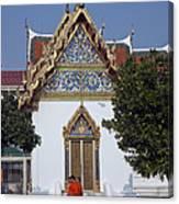 Wat Benchamabophit Monks Residence Dthb187 Canvas Print