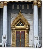 Wat Benchamabophit Ubosot Front Entrance Dthb1242 Canvas Print