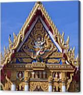 Wat Chai Mongkol Ubosot Gable Dthu609 Canvas Print