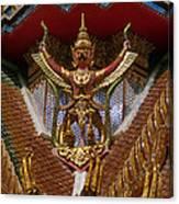 Wat Hua Lamphong Ubosot Roof Garuda Dthb1065 Canvas Print