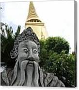 Wat Phrakaew Guardian Canvas Print