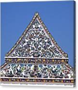 Wat Ratcha Orasaram Ubosot Gable Dthb427 Canvas Print