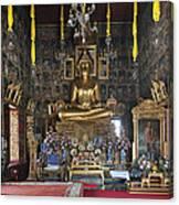 Wat Ratcha Orasaram Ubosot Interior Dthb859 Canvas Print