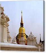 Wat Suan Dok Royal Cemetery  Canvas Print