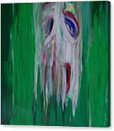 Watcher In The Green  Totem Series  Canvas Print