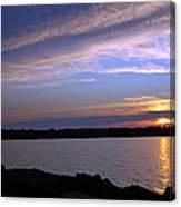 Watchin The Sun Set Canvas Print