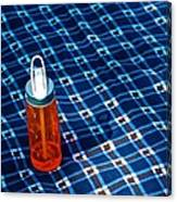 Water Bottle On A Blanket Canvas Print