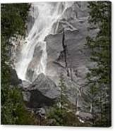 Water Cascading Down The Rock And Canvas Print