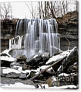Water Falls At Rock Glen Canvas Print