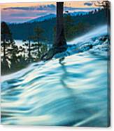 Water Flow Above Emerald Bay Canvas Print