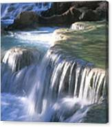 Water Flowes Over Travertine Formations Canvas Print