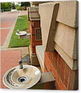 Water Fountains Canvas Print