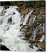 Water In Motion Glen Alpine Falls Canvas Print