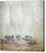 Water Pattern On Old Paper Canvas Print