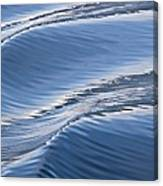 Water Patterns Of Boat Wake Canvas Print