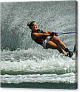 Water Skiing Magic Of Water 2 Canvas Print