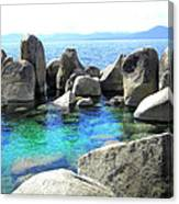Water Stonehenge Lake Tahoe Canvas Print
