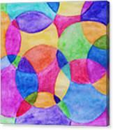 Watercolor Circles Abstract Canvas Print
